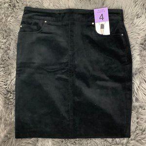S.C & Co.   Women's Corduroy Skirt   Black